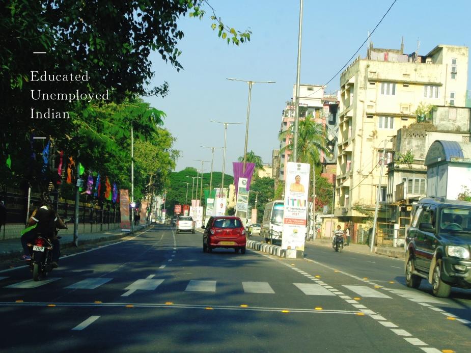 Street in Guwahati, Assam, India