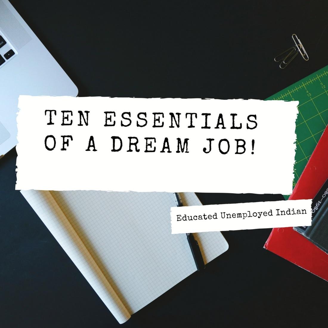 Ten essentials of a dream job!