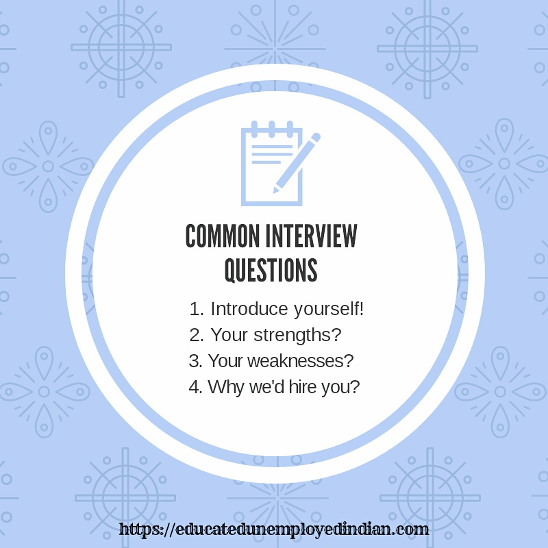 common interview questions, job interview