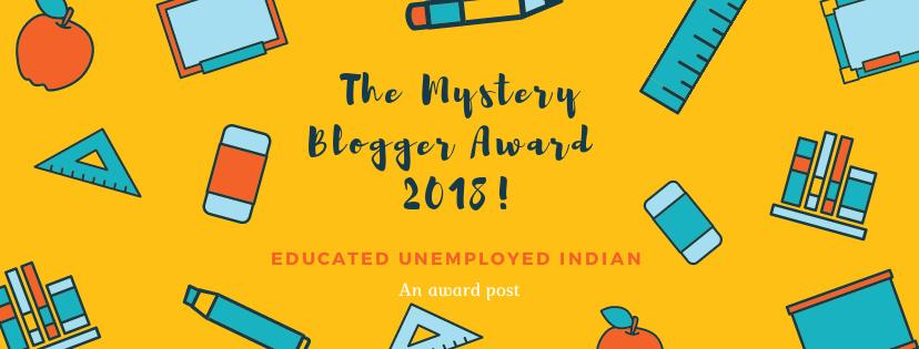 The mystery blogger award, blog award, award nomination