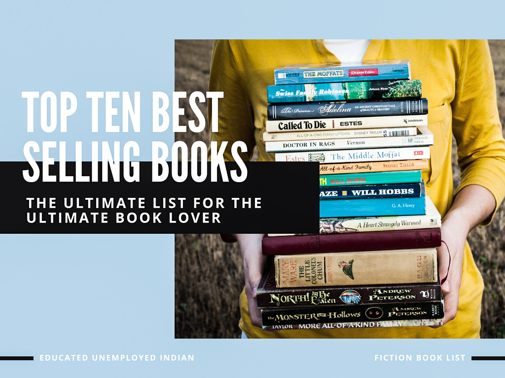The Ultimate List Amazon S Top Ten Best Selling Books In Fiction