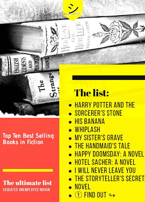 Top Ten Best Selling Books in Fiction