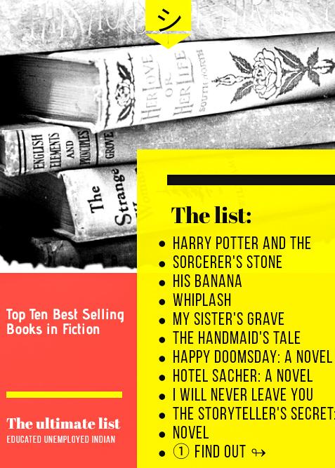 Top Ten Best Selling Books in Fiction