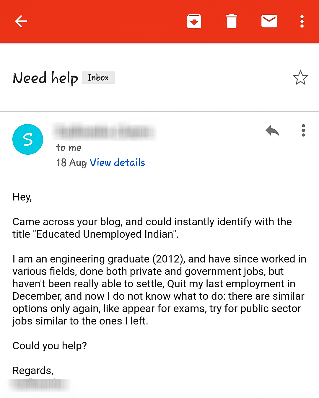 Email, advice, unemployment, unemployed