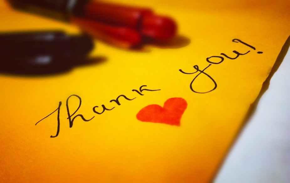 Thank you, gratitude