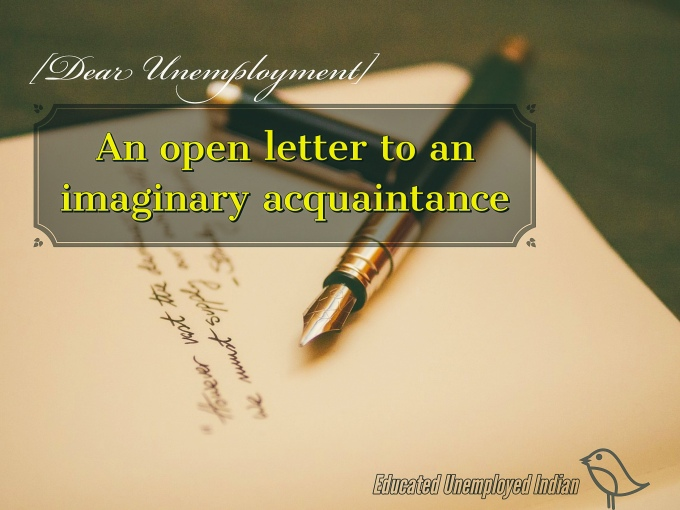 Open letter, unemployment