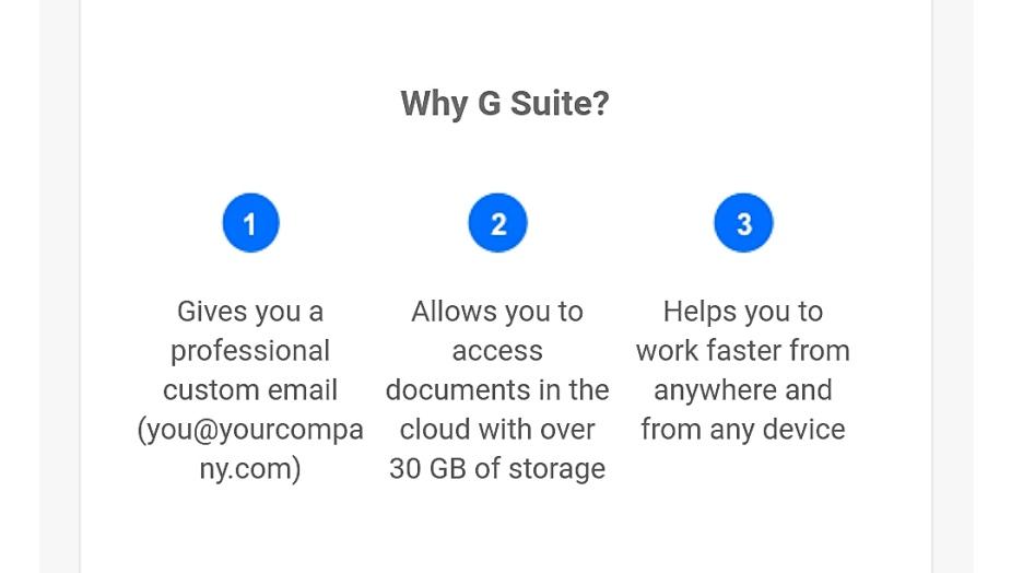Benefits of G Suite