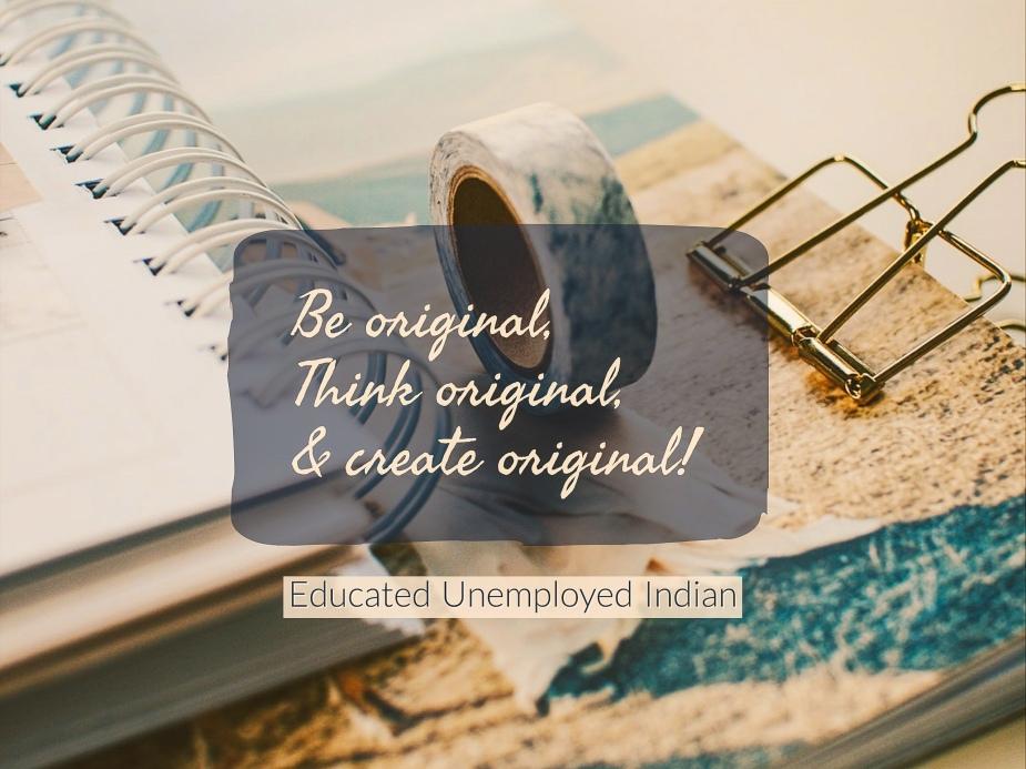 Content theft, be original
