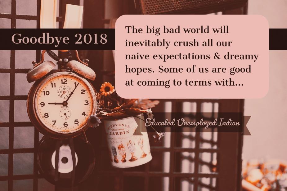 Blog post, goodbye 2018