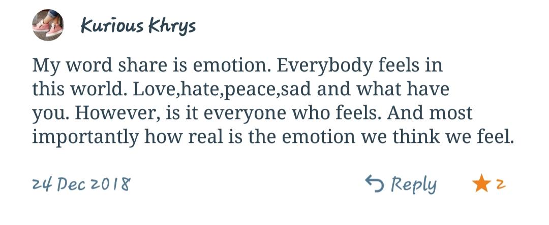Word, words, emotion