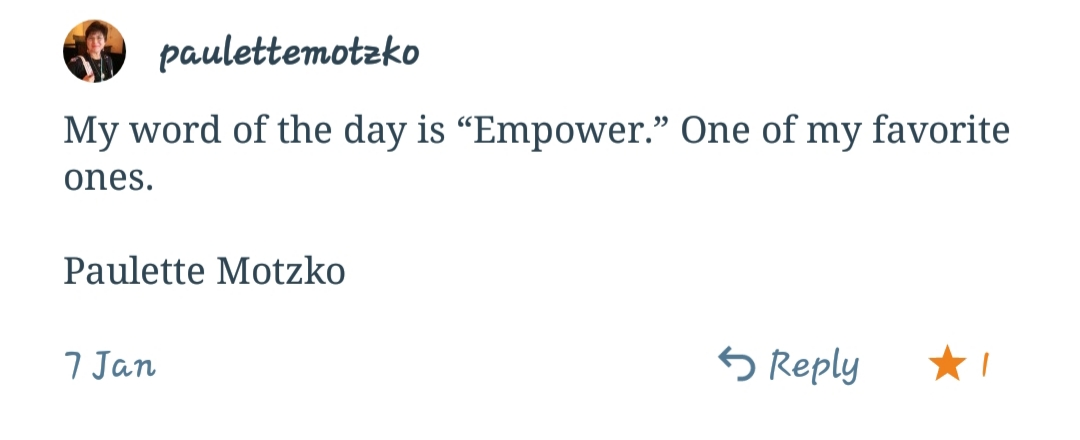 Word, inspiring words
