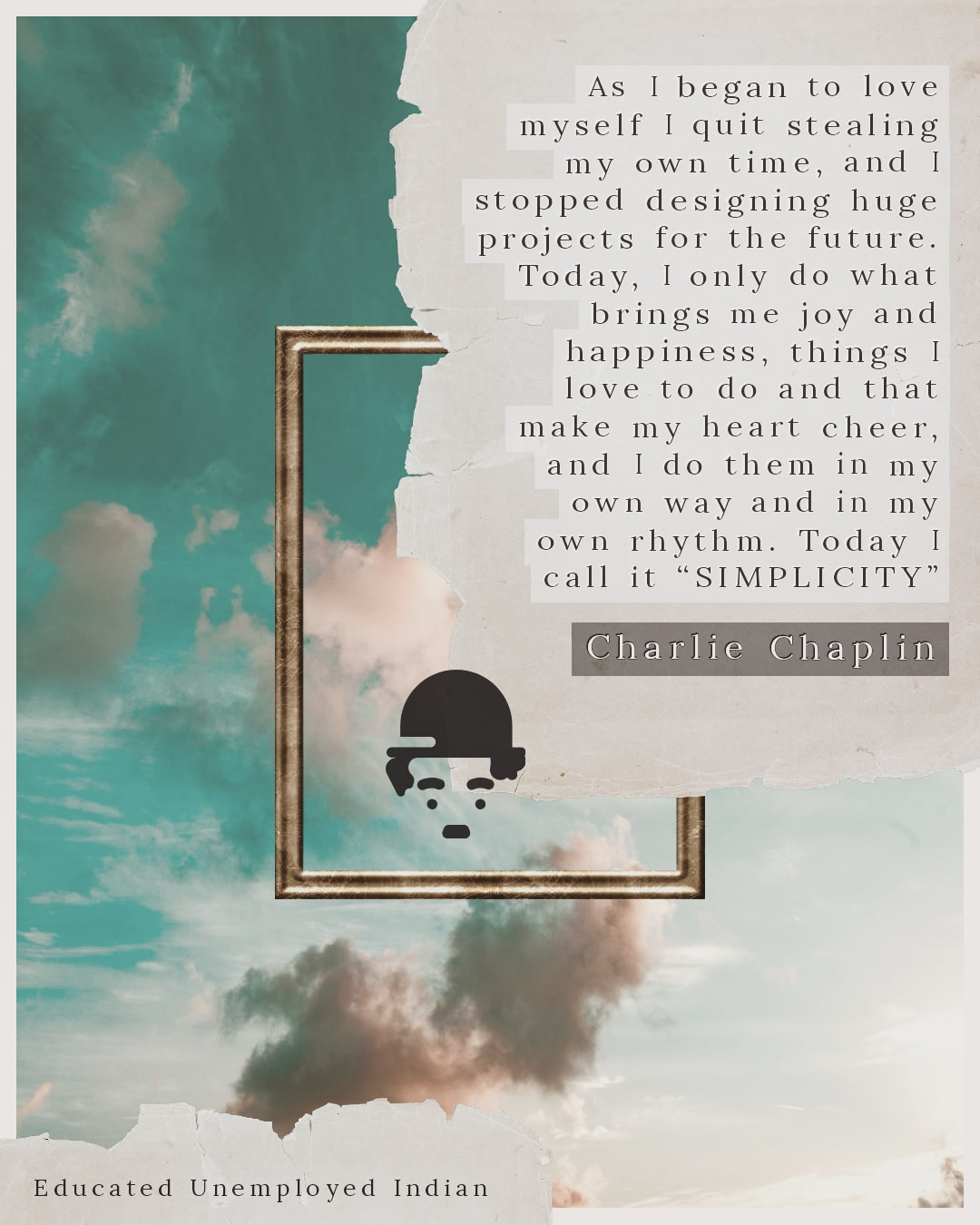 Charlie Chaplin Quote on Simplicity-min